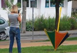 В Бресте появились новые арт-объекты – перевернутые зонтики