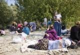 Рядом с зоной ожидания пункта пропуска «Брест» был разбит лагерь с сотнями беженцев