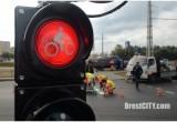 В Бресте 22 сентября был установлен первый светофор для велосипедистов