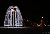 В Бресте на кольце Варшавского шоссе появилась новая иллюминация