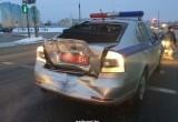 В Бресте рейсовый автобус протаранил автомобиль ГАИ