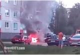 В Бресте неизвестный поджег автомобиль