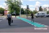 На перекрестке Пионерская-Московская в Бресте появились велосипедные переходы