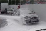 В Бресте на Мошенского тушили автомобиль