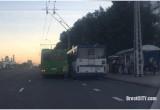 В Бресте произошло ДТП с участием автобуса и троллейбуса