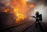 На станции Мотыкалы горел грузовой полувагон