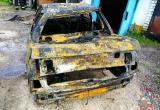В гараже на улице Янки Купалы полностью сгорела старая Audi