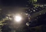 В Бресте на Вульковской горел автомобиль