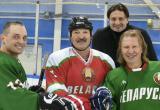 Лукашенко сыграл в хоккей с дрессировщиком Запашным и продюсером Дробышем, который сломал ребро