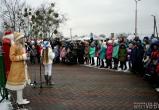 В брестском микрорайоне «Речица» прошло торжественное открытие новогодней елки