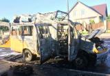 В Бресте 13 мая горели маршрутка и жилой дом