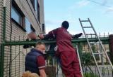 В Бресте спасли застрявшего на заборе нетрезвого мужчину