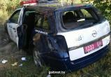 В Бресте автомобиль ГАИ вылетел в кювет и опрокинулся