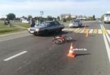 12-летняя велосипедистка оказалась под колёсами AUDI на пешеходном переходе