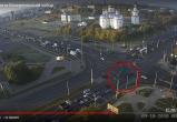 Видеофакт: в Бресте на углу Машерова и Партизанского проспекта произошла авария