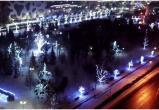Новогодний облет «Парка мира» в Бресте (видео)