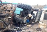 Фура и трактор столкнулись под Могилевом (фото)