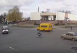 Дерзкий кобринский велосипедист попал на видео