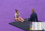 Гимнастка сломала обе ноги на соревнованиях (видео)