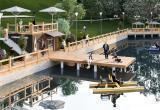 Новая пристань с шезлонгами, беседками и катером строится в Бресте