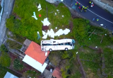 Страшная авария туристического автобуса в Мадейре попала на видео