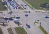 Велосипедист врезался в машину в Бресте (видео)