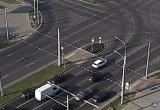 Велосипедиста сбили на светофоре в Бресте (видео)