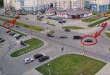 Легковушки не разминулись в Пинске (видео)