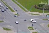 Мотоциклиста сбили на Варшавке (видео)