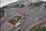 Легковушки столкнулись на Машерова (видео)