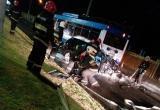 Жуткое ДТП в Бресте: Golf столкнулся с троллейбусом (видео)