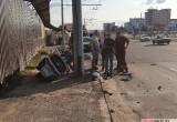 Мотоциклист врезался в столб в Бресте