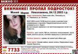 15-летнюю девушку разыскивают в Бресте
