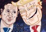 Джим Керри нарисовал карикатуру на Зеленского и Трампа