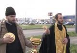В Солигорске батюшка освятил опасный перекресток, а вскоре там сбили человека (видео)