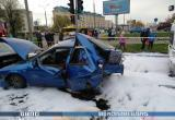 Пять машин столкнулись в Бресте (видео)