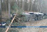 Под Речицей столкнулись и перевернулись автобус и грузовик: шесть человек пострадали