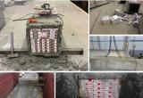Контрабандные сигареты замуровали в фундаментные блоки (видео)