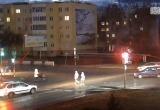 В Кобрине пешеход выбежал под колеса мчащейся машины (видео)