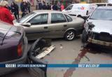 Пьяный водитель устроил аварию с 7 машинами в Барановичах