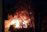 В сильном пожаре в центре Бреста заживо сгорел человек (видео)