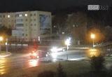 Водитель упал с мотоцикла и «проехался» по дороге в Кобрине (видео)