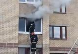 На пожаре в Бресте пострадал мужчина (видео)