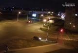 Молодая брестчанка не вписалась в поворот и врезалась в забор (видео)