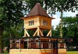 В городском саду Бреста завершают строительство мини-кафе по чертежам столетней давности