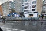 В Бресте на людей упал навес остановки общественного транспорта