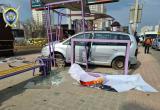 Машина въехала в остановку в Минске: есть пострадавшие