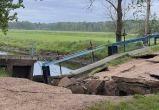 Железобетонный мост обрушился в Пружанском районе