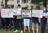 Акция протеста проходит у посольства Литвы в Минске из-за гибели мигранта на границе