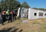 В Турции перевернулся автобус с туристами: один человек погиб